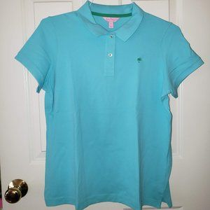 Lilly Pulitzer Turquoise Polo - Size XL